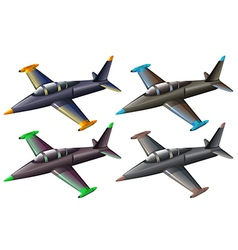 A group fighter jets vector