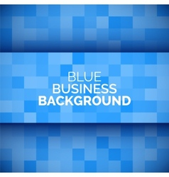 abstract 3d business blue background vector image