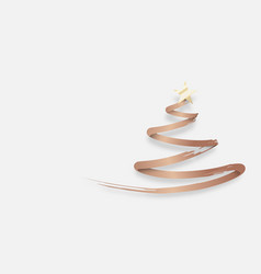 abstract christmas tree made from gold brush vector image