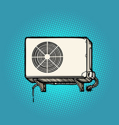 air conditioning on outside wall vector image