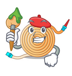 artist water hose character cartoon vector image