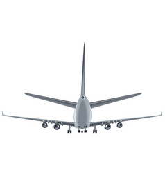 back view passenger airplane vector image