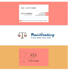 beautiful justice logo and business card vertical vector image