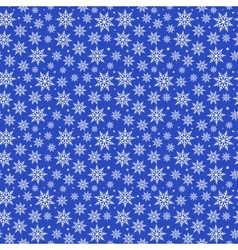 Blue Christmas Snowflakes Pattern vector