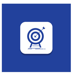 blue round button for goal hit market success vector image