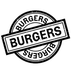 Burgers rubber stamp vector image