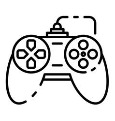 Button joystick icon outline style vector