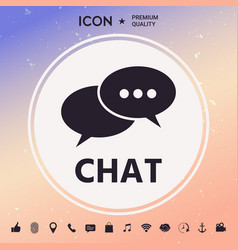 Chat button vector