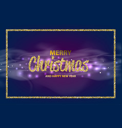 christmas an happy new year bokeh vector image