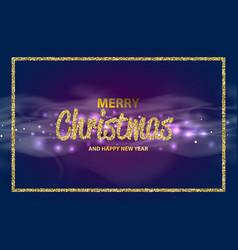 christmas an happy new year bokeh vector image