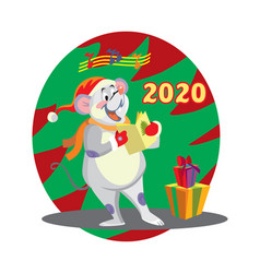 Christmas mouse 9 vector