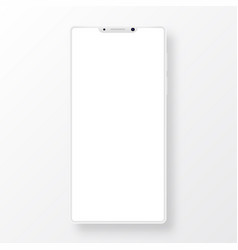 clean smartphone with blank screen vector image