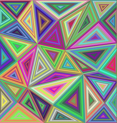 Colorful concentric triangle mosaic background vector image
