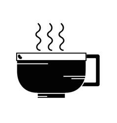 Contour tasty espresso coffe cup vector