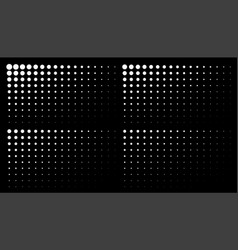 corner white gradient halftone dots backgrounds vector image