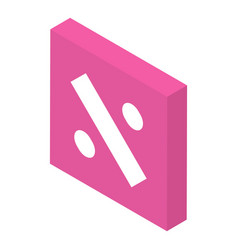 Divide operation icon isometric style vector