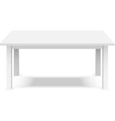 empty top white plastic table isolated on white vector image