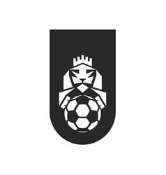 Football club logo sample sports emblem print on vector