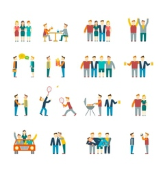 Friends icons flat vector