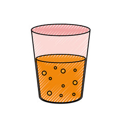 glass with juice vector image