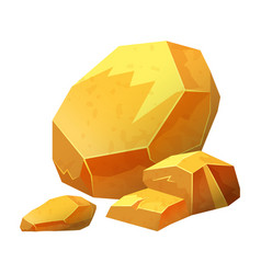 gold nugget stone jewel raw materials for vector image