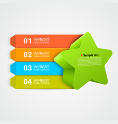 Green star infographics concept vector