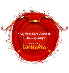 Happy dussehra wishes festival card greeting vector
