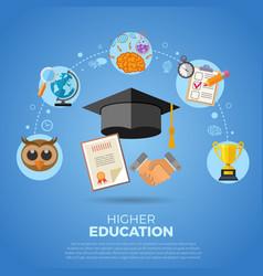 higher education banner vector image