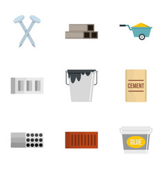 home construction tool icon set flat style vector image