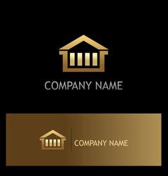 House business gold logo vector