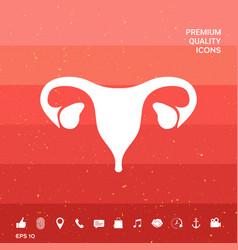 Human organs female uterus icon vector