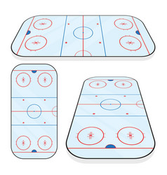 Ice hockey field isolated on white background vector