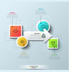 Infographic design template with elements vector