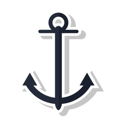 Isolated marine anchor design vector image