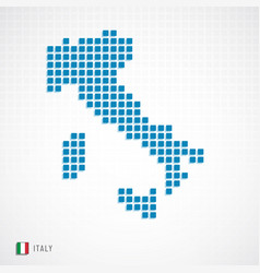 Italy map and flag icon vector