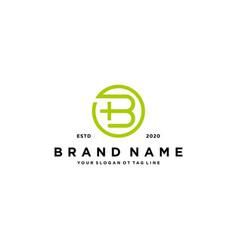 Letter b cross plus hospital medical logo design vector