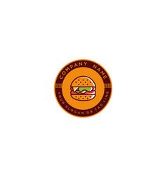 Logo design burger vector