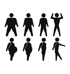 Man From Fat to fit vector image