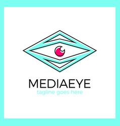 media eye logo vector image