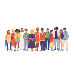 multicultural team group different people vector image