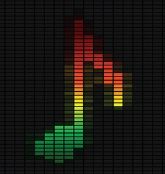 Music note on equalizer vector image