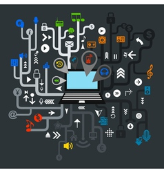 Music the computer vector