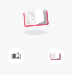 Open book icon material design vector