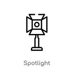 outline spotlight icon isolated black simple line vector image