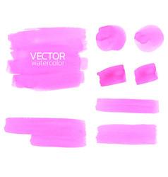 Pink watercolor brush stroke vector