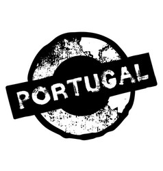 portugal stamp on white vector image