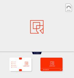 premium initial r rr outline creative logo vector image