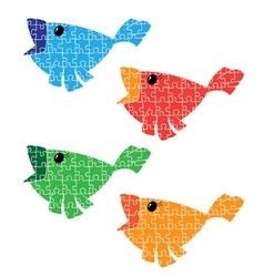 puzzle bird set vector image