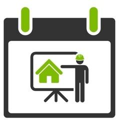 Realty Developer Calendar Day Flat Icon vector