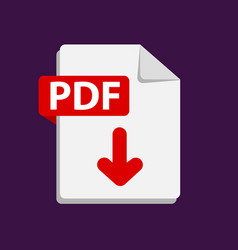 Red icon pdf file format extensions icon vector